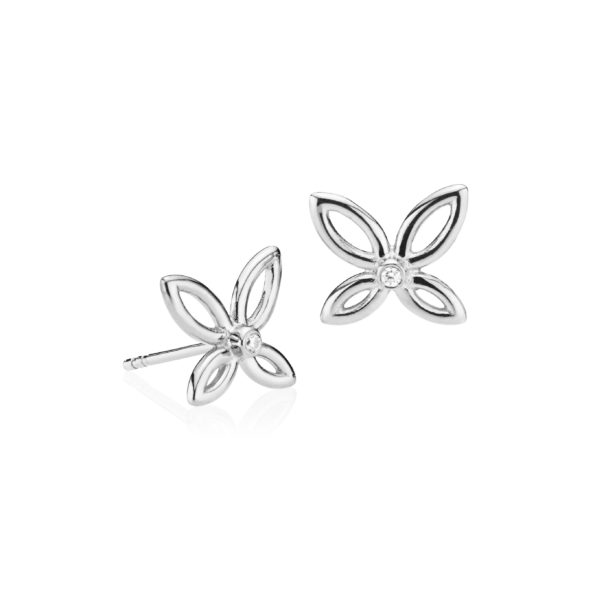 Izabel Camille Blossom Small Sølv Ørestikker