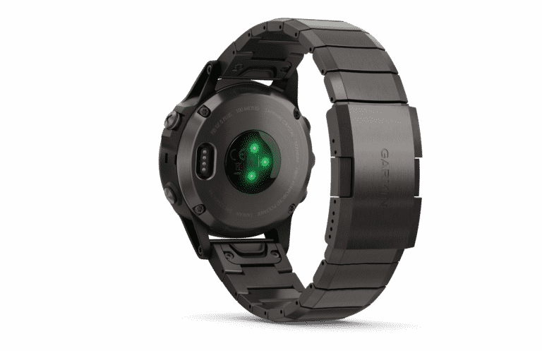 Garmin FENIX 5Plus Sapphire DLC-titaniumlænke