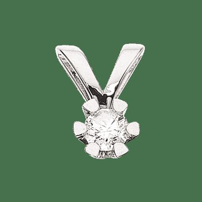 Scrouples VIDA Vedhæng 8 karat hvidguld 0,10ct