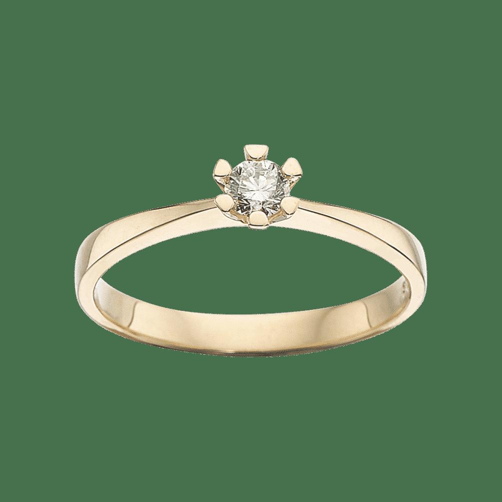 Scrouples VIDA Ring 8 karat rødguld 0,15ct