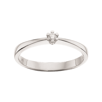 Scrouples VIDA Ring 8 karat hvidguld 0,03ct