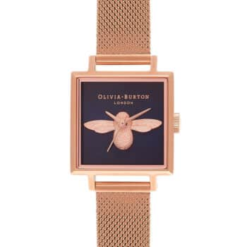 Olivia Burton BEE SQUARE BLACK
