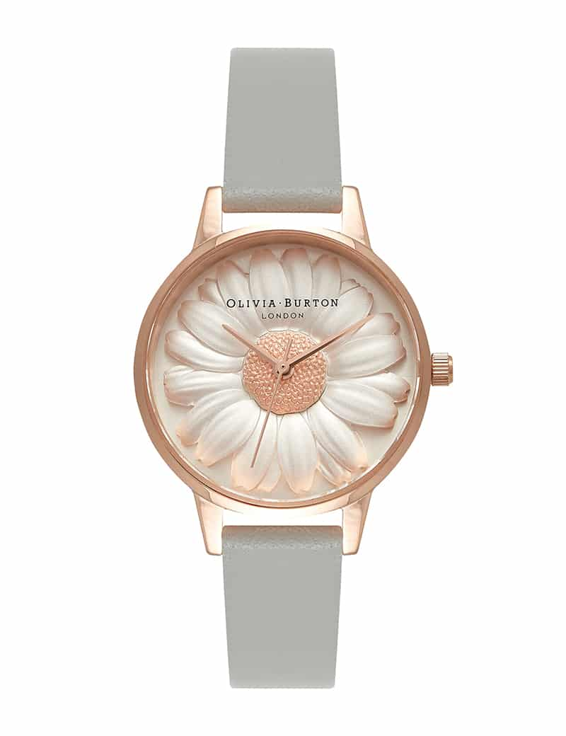 Olivia Burton DAISY GREY ROSE GOLD