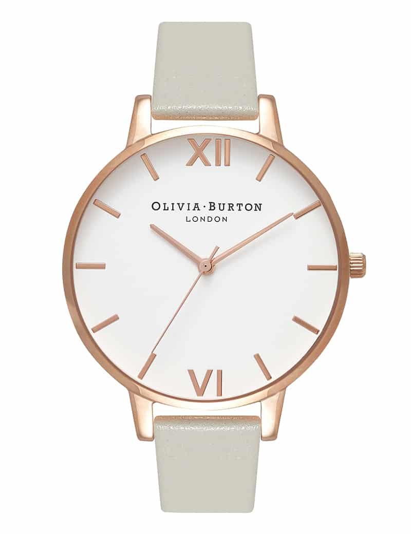 Olivia Burton WHITE DIAL GREY ROSE GOLD
