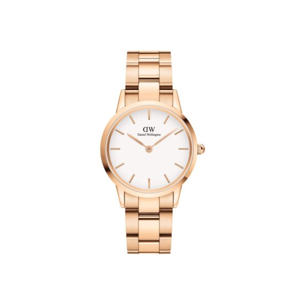 DW ICONIC LINK Rose Gold White 32mm ADW00100211