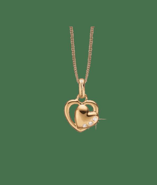 Christina Design DOUBLE HEART Halskæde 680-G11